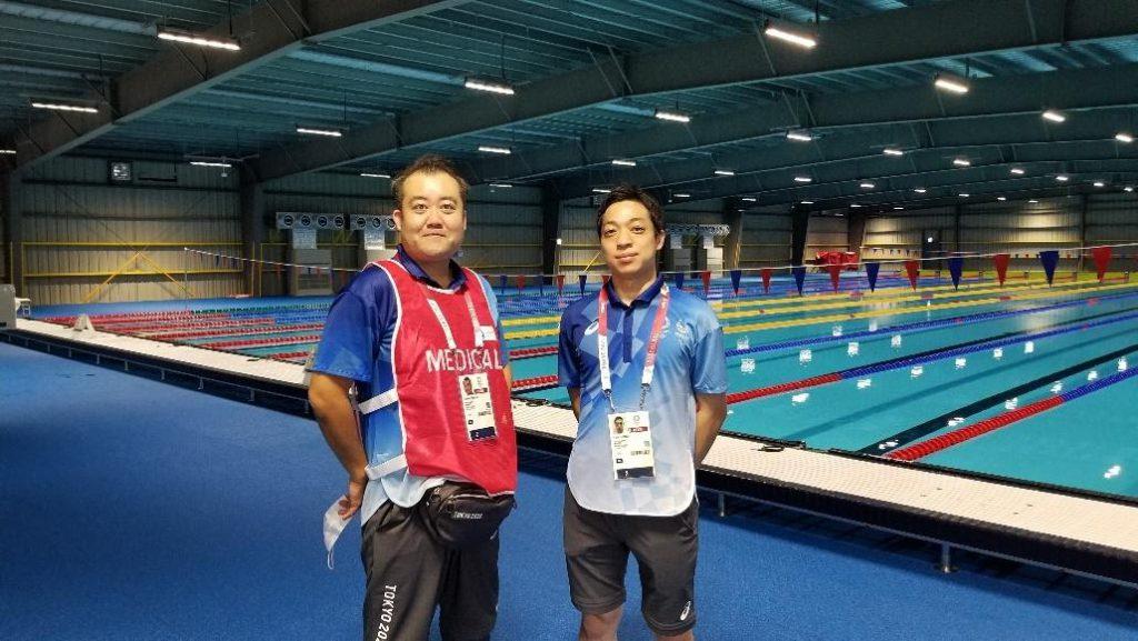 東京2020オリンピックの水泳競技会場で救護ドクターとして活躍した院長 吉岡範人